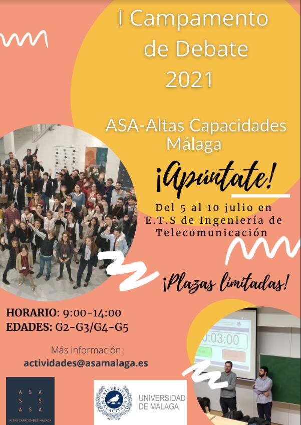 Cartel de Campamento de Debate de ASA Málaga